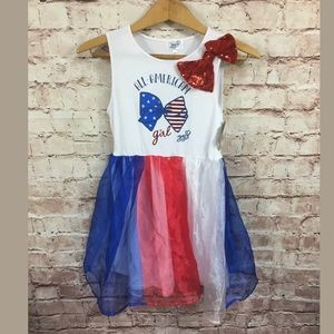 Jojo Siwa Size 14/16 Red White and Blue dress new